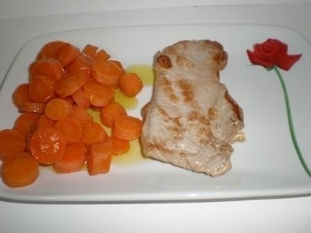 Lomos de cerdo con zanahorias
