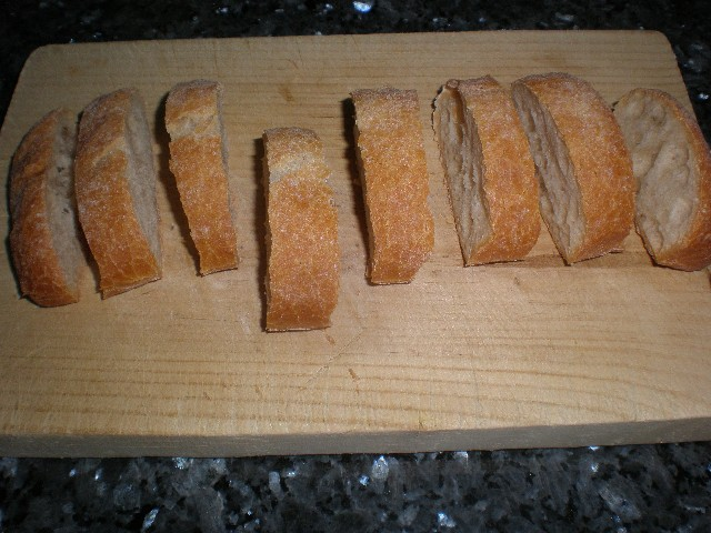Pan chapata en rodajas