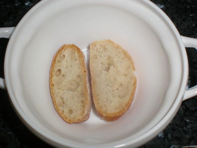 Rodajas de pan chapata
