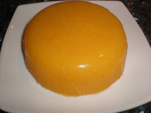 Gelatina de zumo de mandarina
