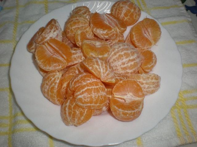 Mandarinas sin la piel