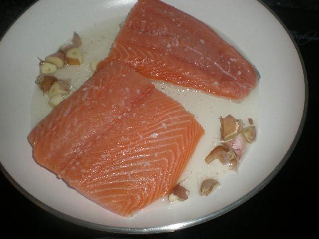 Sofreír el salmón