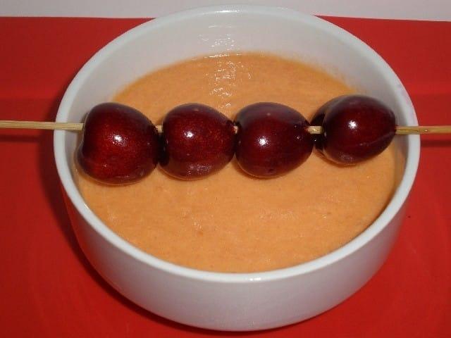 ▷ Gazpacho de cerezas 🥣 🍒
