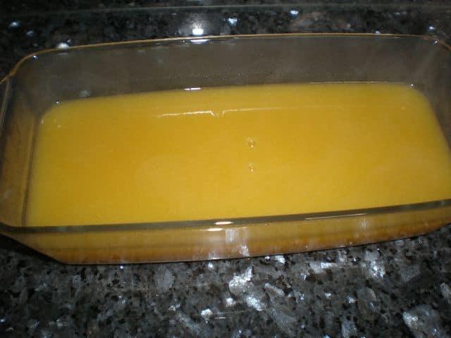 Gelatina de crema de calabaza
