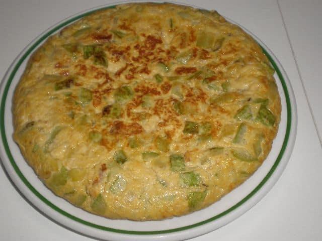 Tortilla de calabacín pochado 1 - ▷ Tortilla de calabacín pochado 🥚 🥚