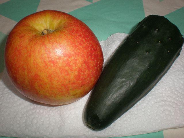 Manzana y pepino