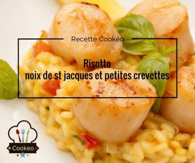 risotto noix de st jacques et petites crevettes
