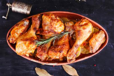 pilons de poulet au fromage blanc et paprika