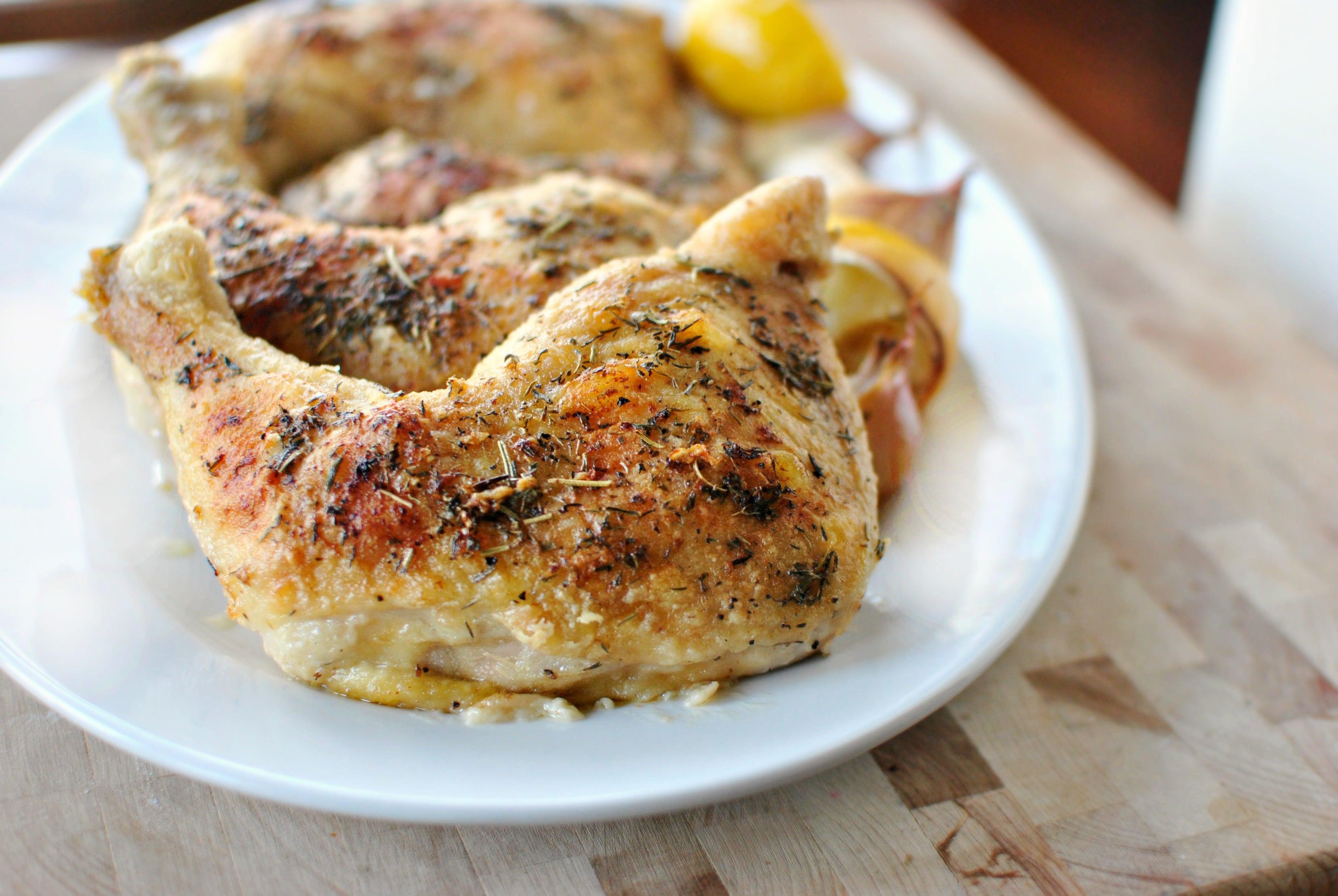 Recette de poulet rôti à la Provençale