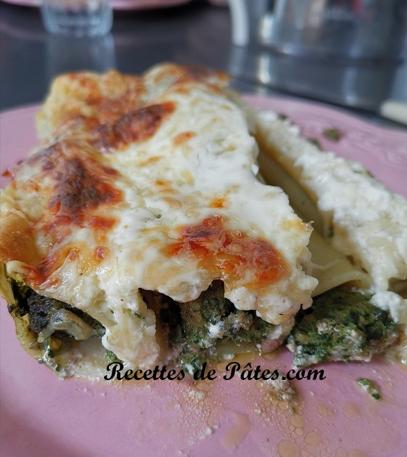 Cannelloni épinards et viande hachée