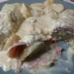 Tagliatelles fraîches aux crevettes, courgettes aux épices et coco