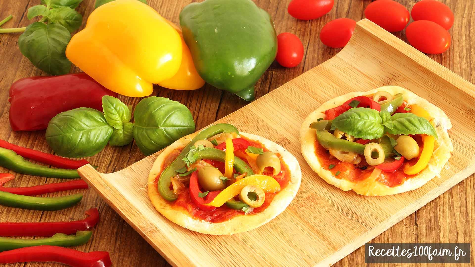 Recette de pizza basquaise tomates poivrons oignons
