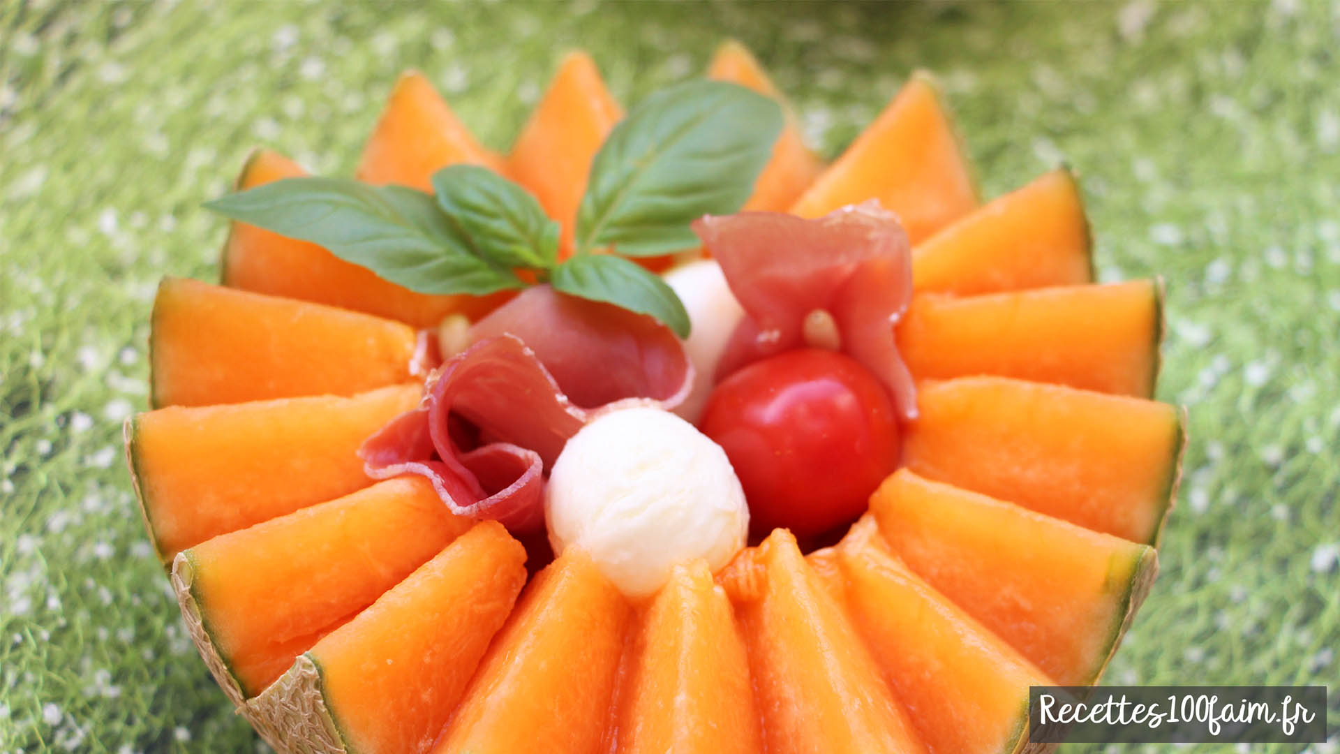 Recette gourmande de jambon cru melon et basilic