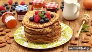 recette pancakes amandes