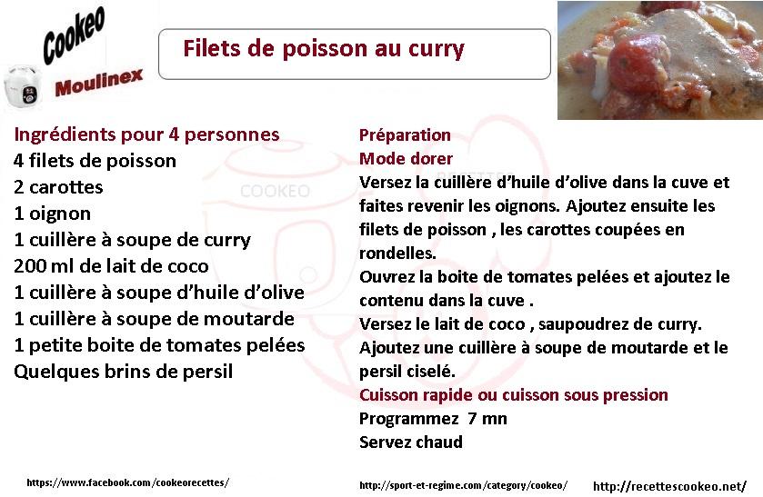 Filets De Poisson Au Curry Une Recette Cookeo