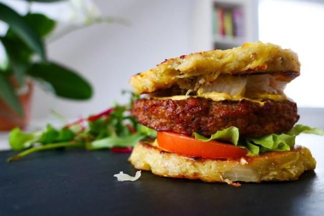 Burger alsacien à la choucroute et moutarde Melfor