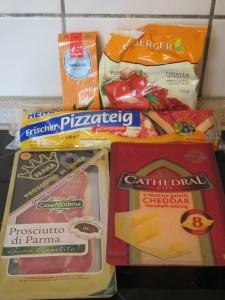 Ingrédients_pizzas déguisées en gaufres