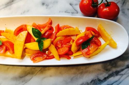 Salade de tomates et mangues