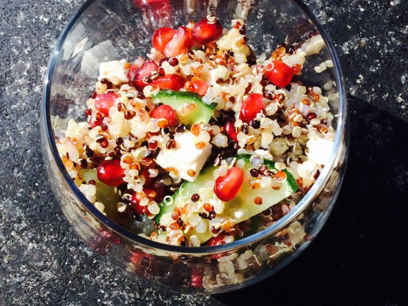 #Saladedeprintemps #saladequinoafeta #quinoa #saladerepas