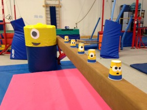 These minion cups were probably my favourite multi-use prop. To make the them, I just painted eyes and and a blue stripe on yellow paper cups from the dollar store. They acted as mini-pylons, small obstacles, for some games