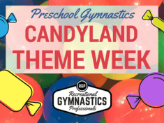 Candyland Theme Week Guide || recgympros.com || @recgympros