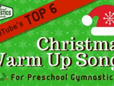 Top 6 Christmas Warm \up & Action Songs for Preschool Gymnastics! || recgympros.com || @recgympros