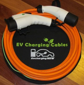 Charging station cable