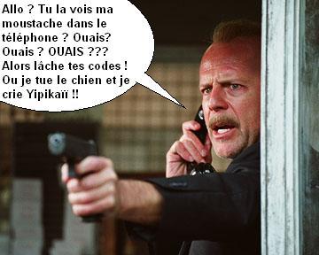 Bruce Willis moustache