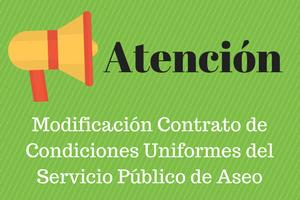 Modificación en el contrato de condiciones uniformes