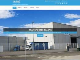 Diseño Web Transportes Talens