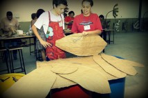 Class - Potira de Minas - Working with cardboards and papers