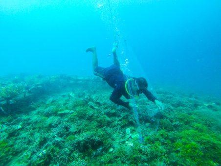 Grace au materiel fourni par Bali Aquarium, les fermier peuvent continuer à travailler.