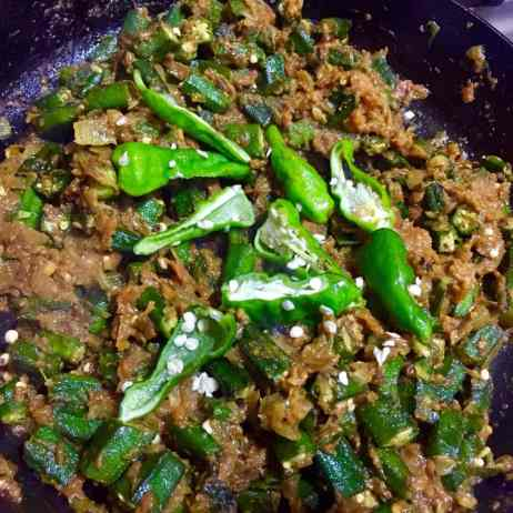 Add Bhindi and cook further.