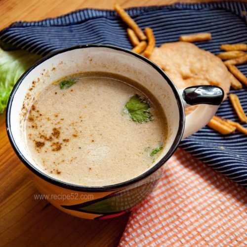 mushroom soup with chicken stock