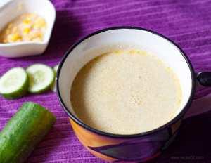 Cucumber coconut soup recipe