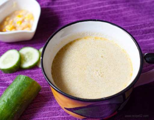 cucumber soup hot with coconut milk