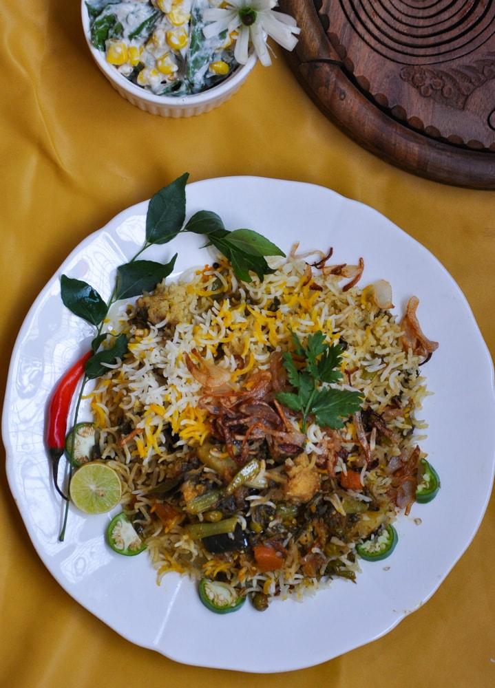 easy vegetable biryani recipe