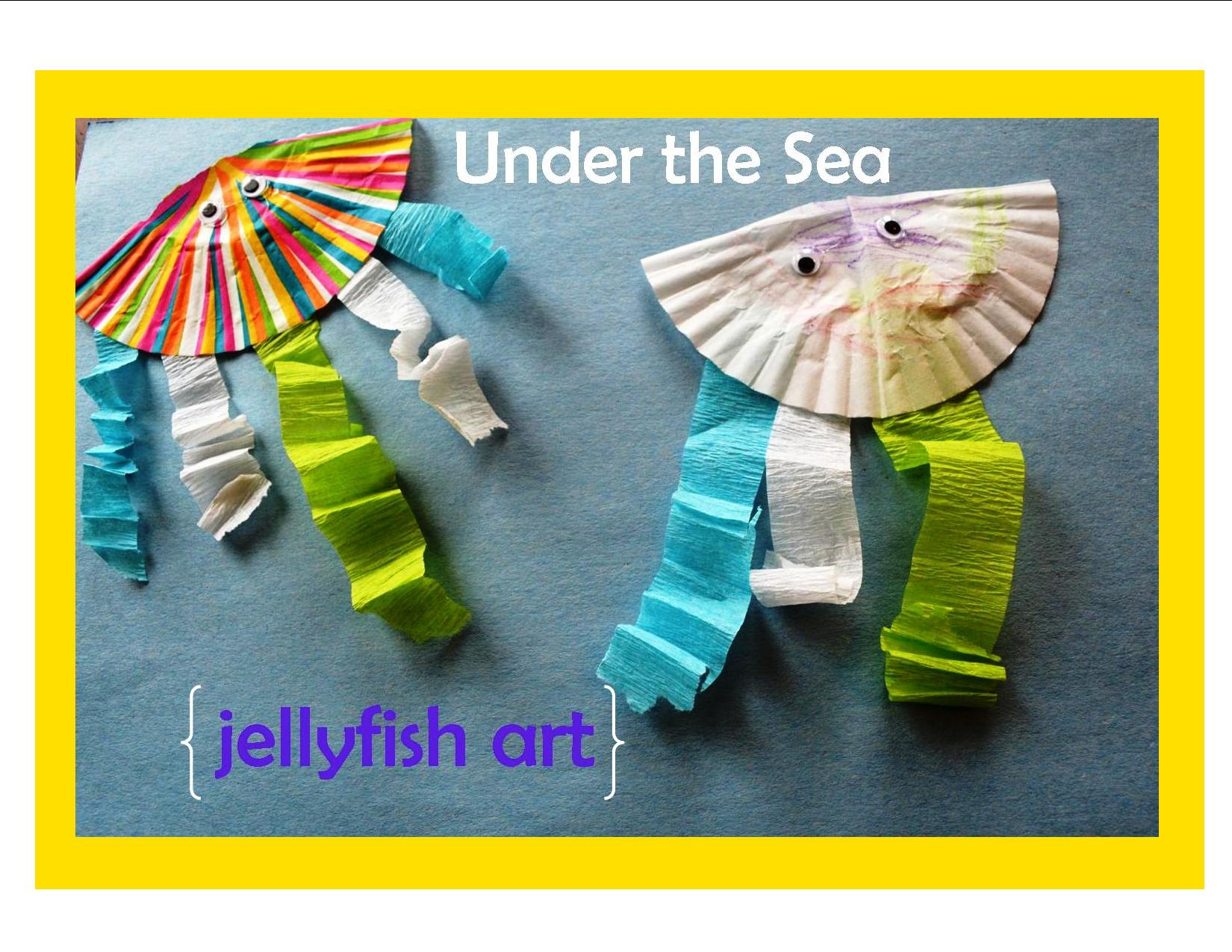 Kid Craft Under The Sea Jellyfish Art