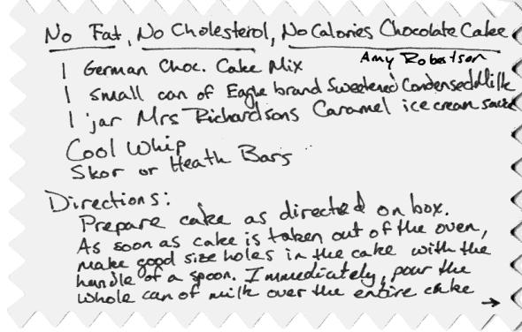 No Fat, No Cholesterol, No Calories Chocolate Cake
