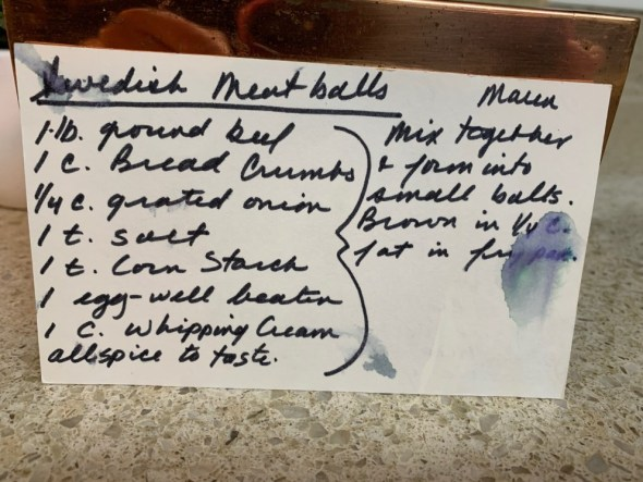 Helen Peterson Swanson's Swedish Meatballs
