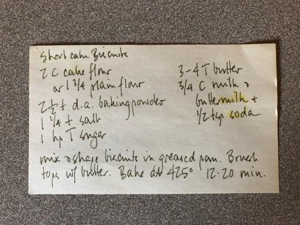 Shortcake Biscuit