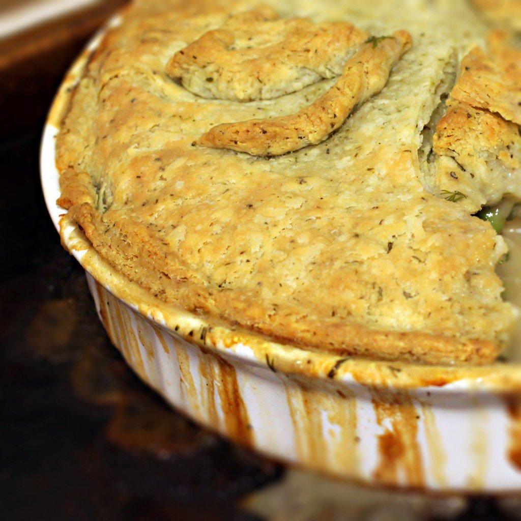 dill and greek yogurt flakey pastry crust