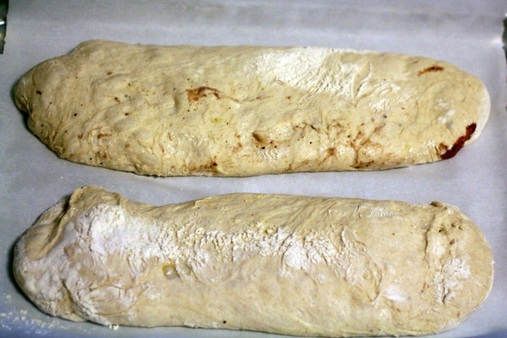 balsamic roasted strawberry ciabatta ready to bake