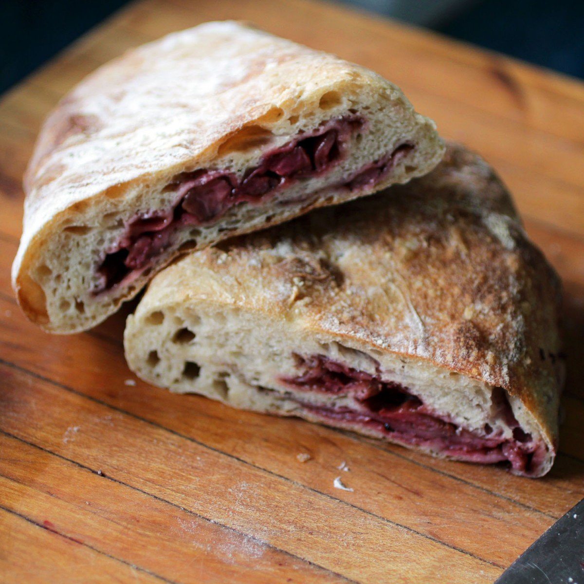 balsamic roasted strawberry ciabatta