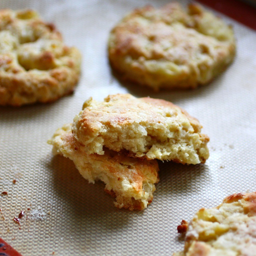 apple onion biscuit scone with sharp cheddar