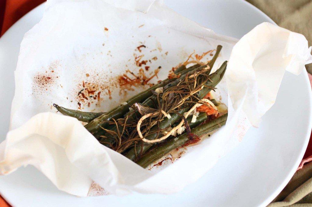green bean casserole en papillote