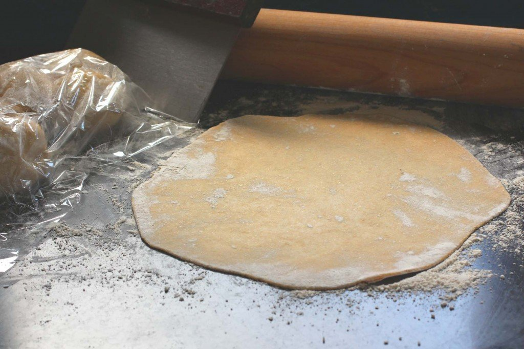 making homemade whole wheat tortilla