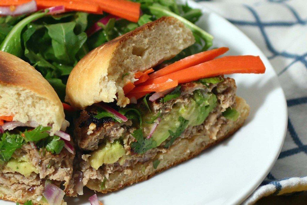 Lemongrass Shiitake Mushroom Ground Pork Burger