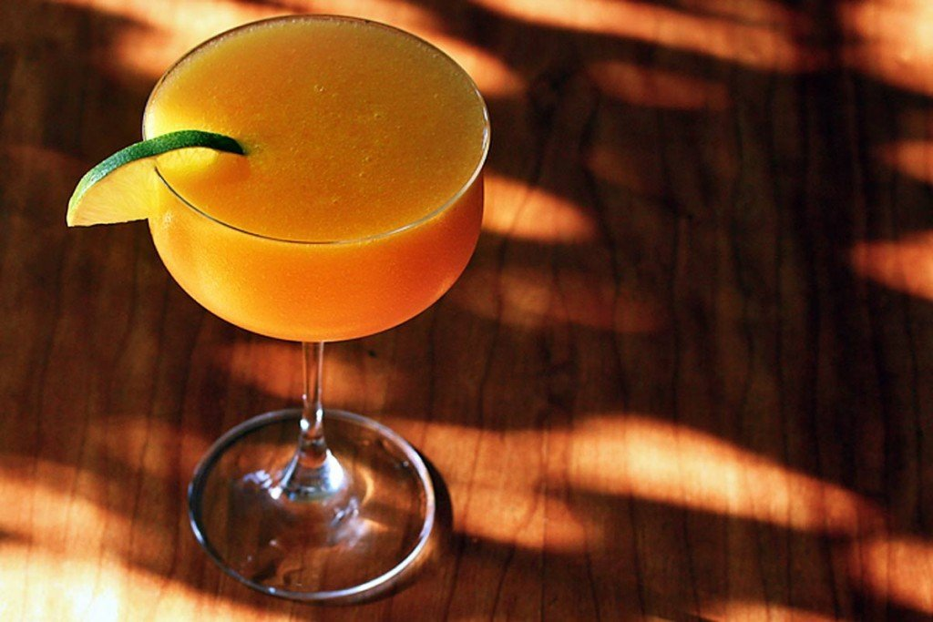 simply refreshing rose mango daiquiri