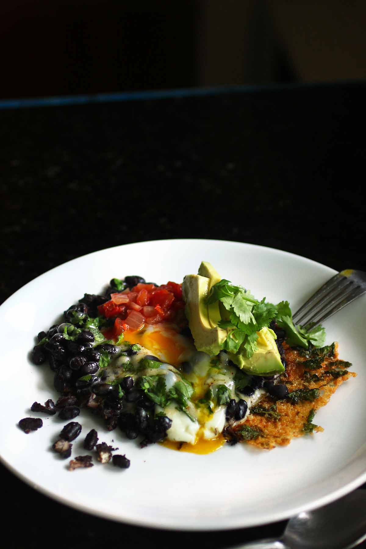 Crispy Cheesy Black Bean Breakfast